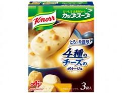 [크노르 컵스프] 4종의 치즈밥을 ~ 다 진한 포타주 3봉입